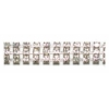 Rhinestone Chain 3Rows SS12 Silver Crystal
